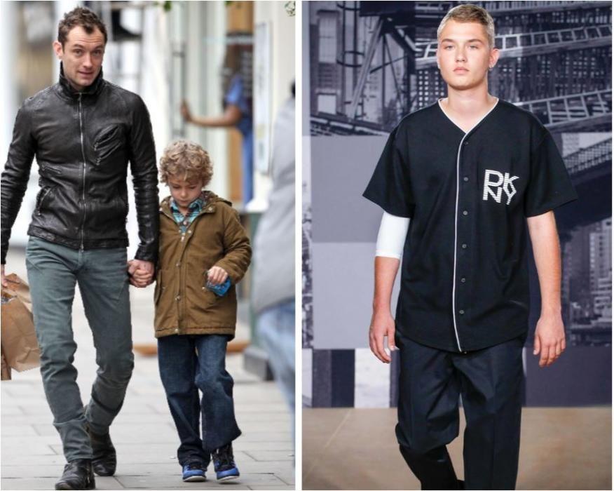 Uno de los cinco hijos de Jude Law. Póquer del británico.