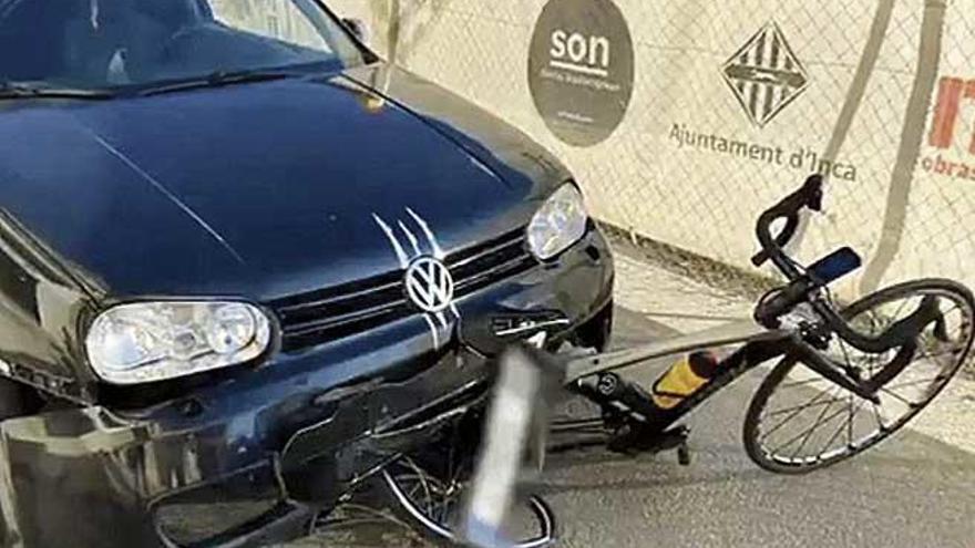 El ciclista paralímpico Joan Reinoso, ileso tras ser atropellado en Inca