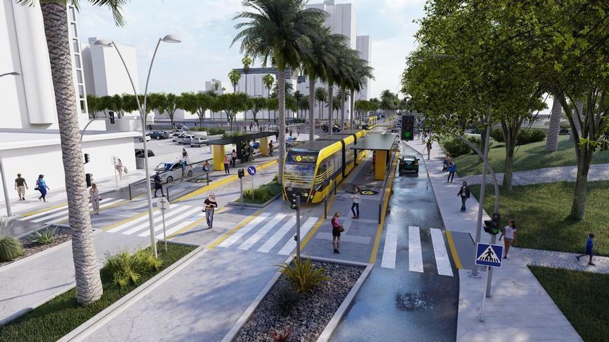 Urbanismo adjudica las obras para completar el tramo de la MetroGuagua en la Vega de San José