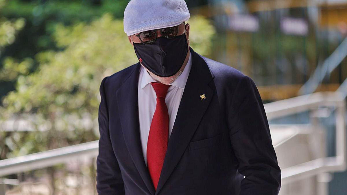 Villarejo, a la seva sortida de l'Audiència Nacional després de declarar. | EUROPA PRESS