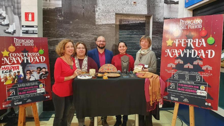 El Mercado del Puerto estrena Feria de Navidad entre artesanos de la Fedac