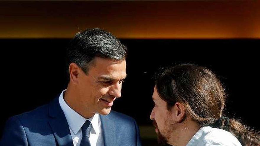 Sánchez e Iglesias allanan el terreno a un pacto presupuestario todavía insuficiente