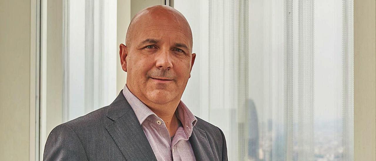Jordi Giné, directivo de Telefónica para la zona este de España.   MANUEL SAIZ