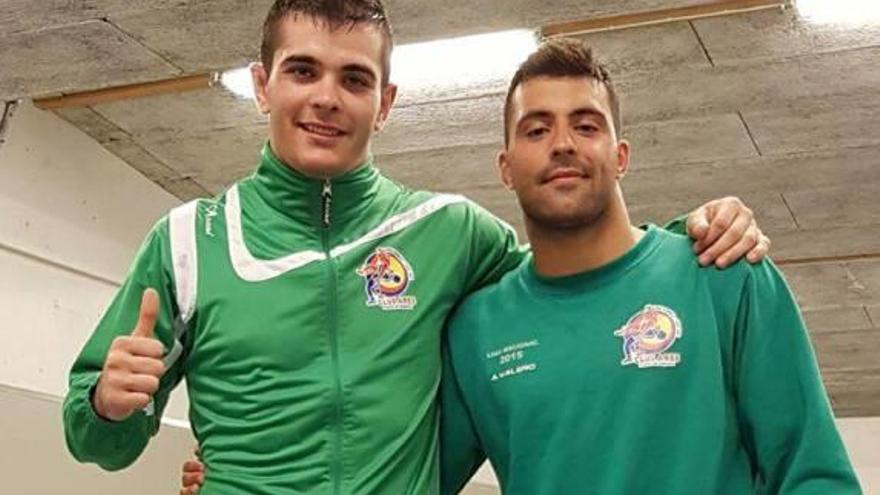 Jesús Gasca y Adrián Valero compiten en Francia con el equipo nacional sénior