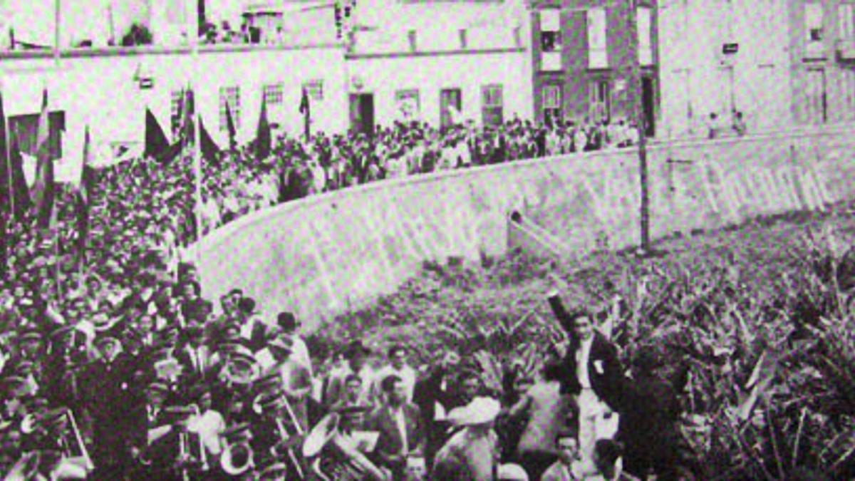 Celebración del 1º de Mayo en el municipio palmero de Tazacorte.     E.D.