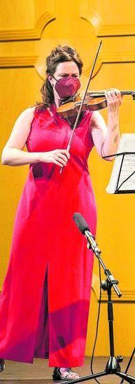 La violinista Valeria Zorina.