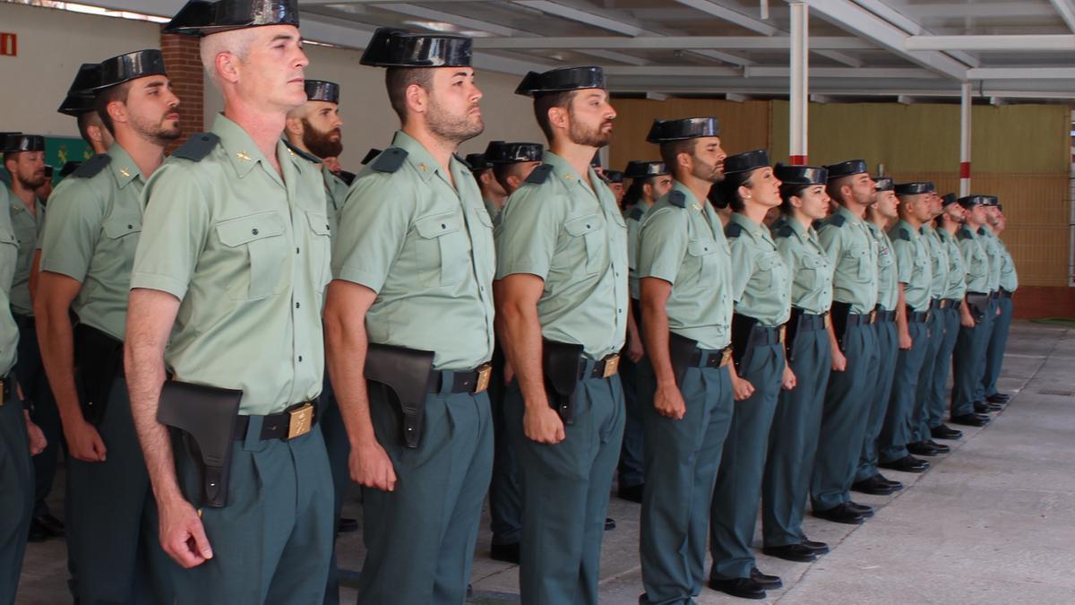 Imagen de archivo de guardias llegados otros años.