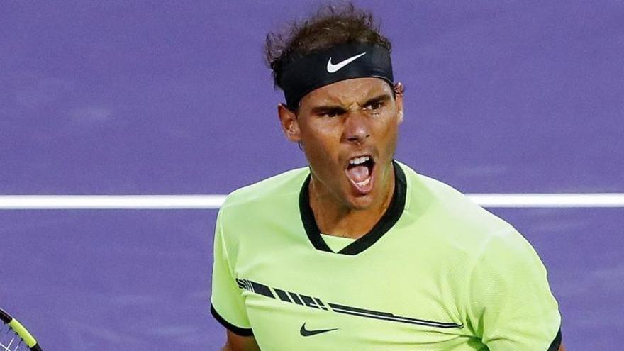 Un Nadal milenario levanta un 6-0 y sigue adelante en Miami