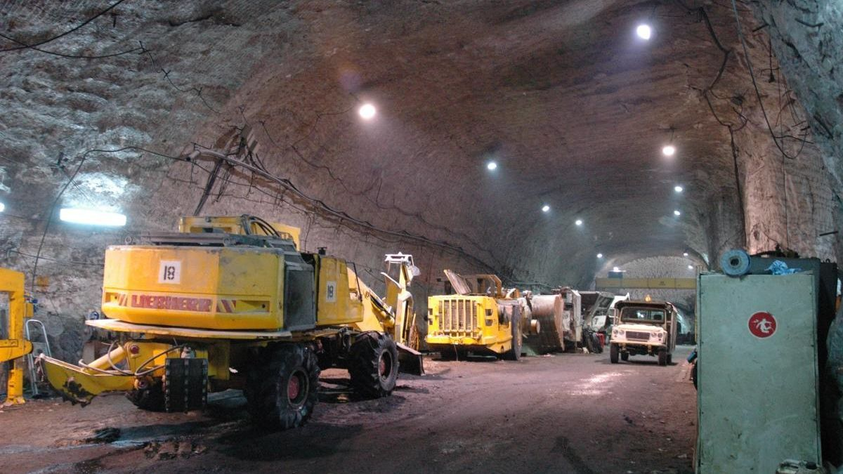 Interior d'una de les galeries de l'explotació minera de Súria