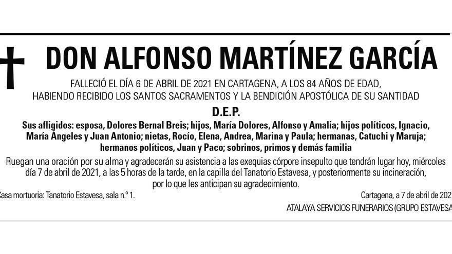 D. Alfonso Martínez García