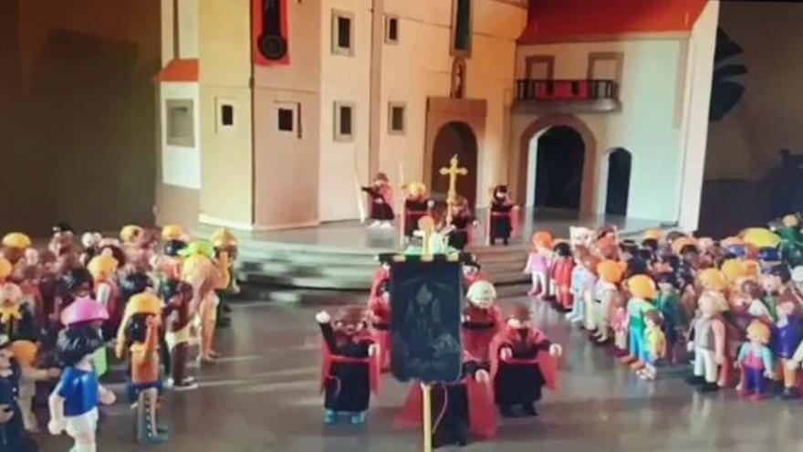 Domingo de Ramos a pequeña escala en Betanzos