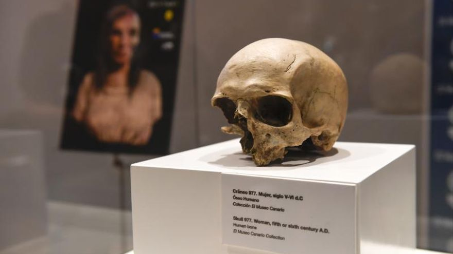 Presentación de la reconstrucción de una aborigen del siglo VI