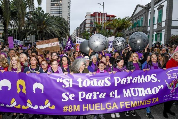 GENTE Y CULTURA 07-03-19  LAS PALMAS DE GRAN CANARIA. 8M Día Internacional de la Mujer. Manifestación por el 8M Día Internacional de la Mujer. FOTOS: JUAN CASTRO
