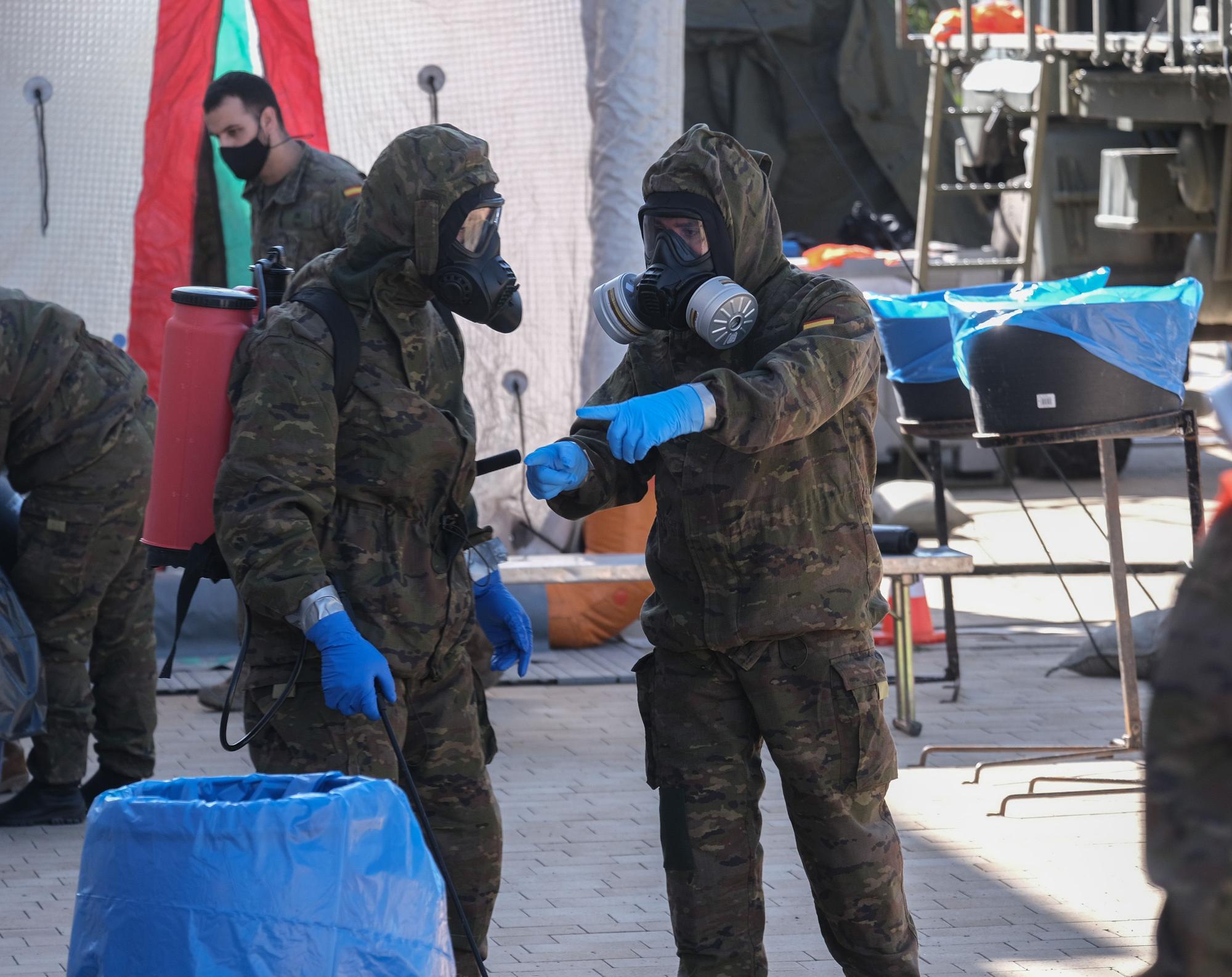 El Ejército regresa al geriátrico de Petrer para desinfectar sus instalaciones