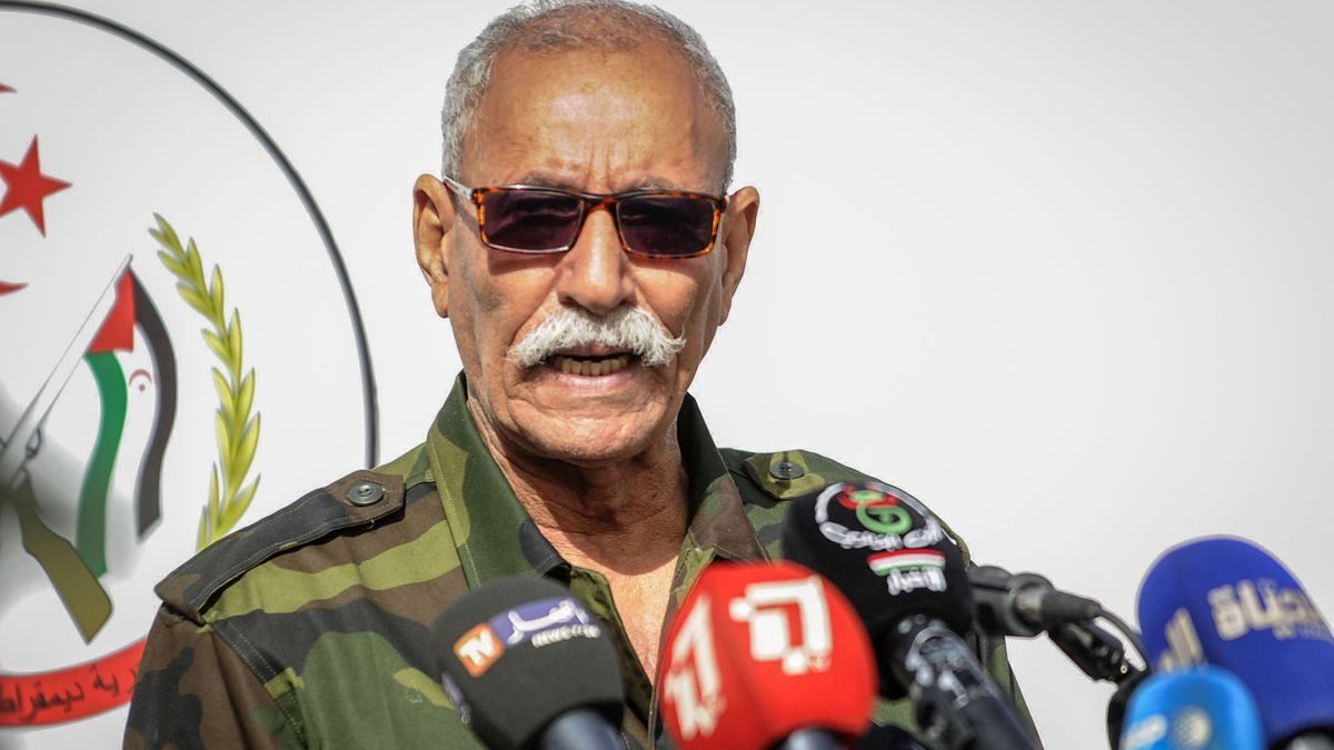 File image of the leader of the Polisario Front, Brahim Gali.