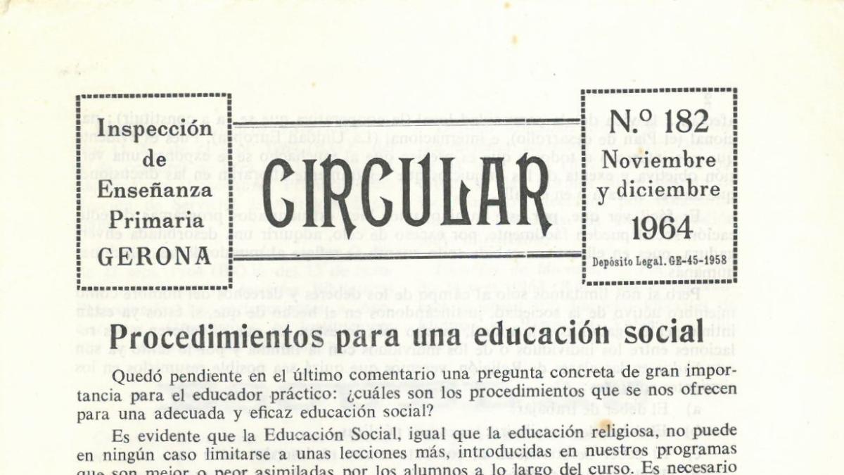 La circular de 1964.