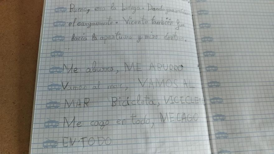 """El dictado de una niña de 7 años que resume una pandemia: """"Me aburro, me cago en todo"""""""