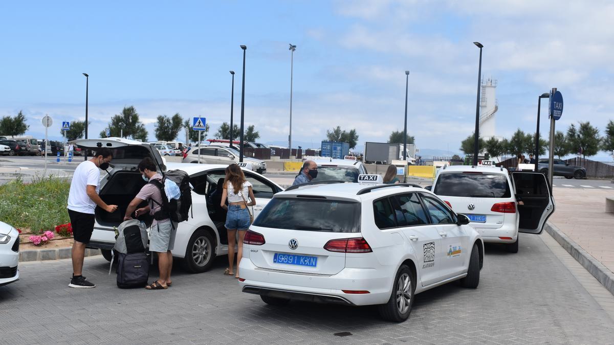 Taxis de Formentera en una imagen de archivo.