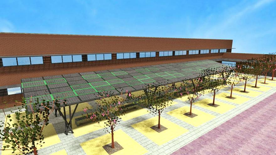 Dos colegios públicos contarán con pérgolas solares