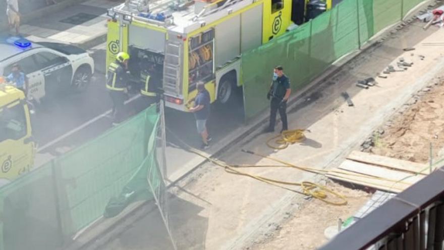 Incendio en una cafetería de Arguineguín (30/07/21)