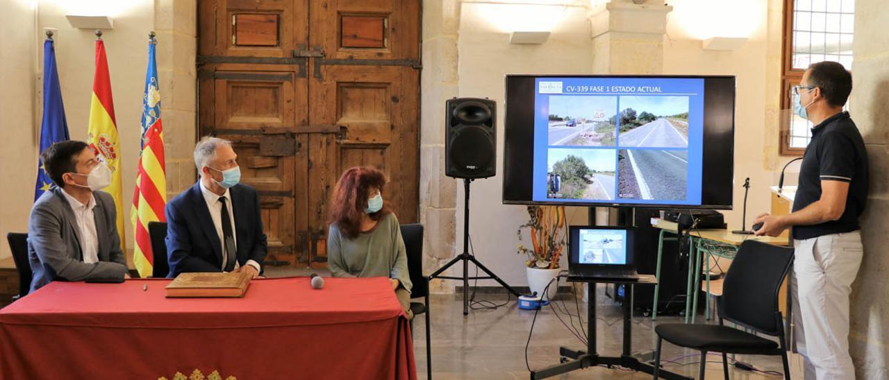 Presentación de las obras de la carretera entre Llíria y Alcublas