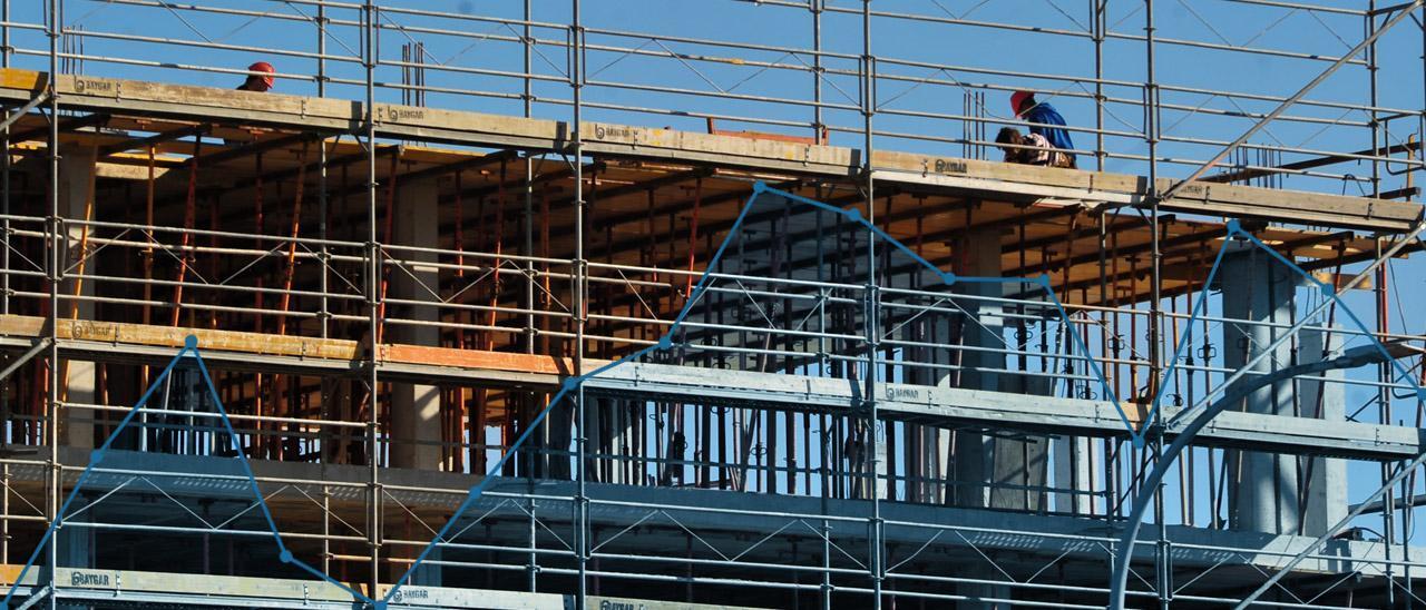 Imagen de fondo: Edificio en construcción en Vilagarcía