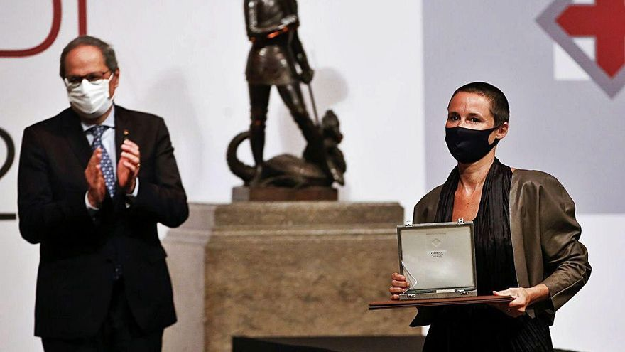 Miriam Ponsa, Jordi Fàbregas, el Nova Solsona i Àuria reben la Creu de Sant Jordi