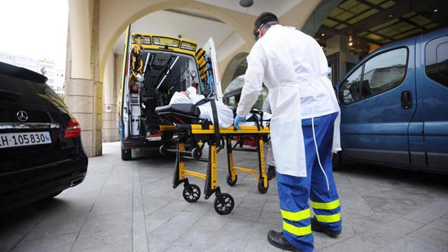 Un futbolista del Fuenlabrada, hospitalizado en A Coruña