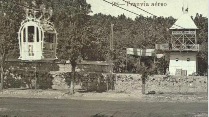El tranvía aéreo de 1909 al descubierto