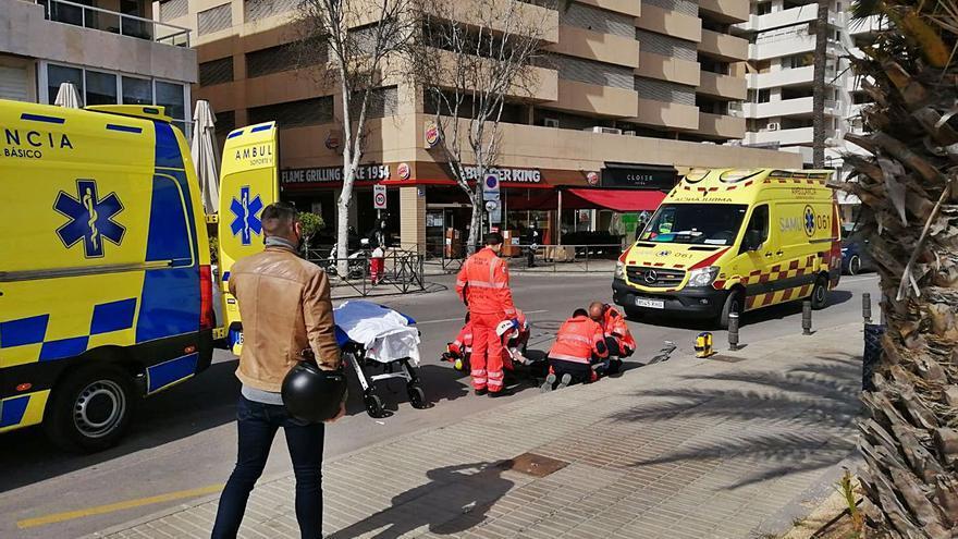 Herida de gravedad una mujer arrollada por una moto en Vila