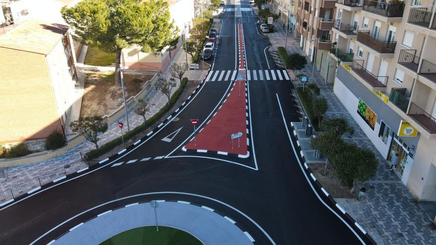 Concluidas las obras de la glorieta en la CV-799 para mejorar la seguridad vial en la travesía de Biar