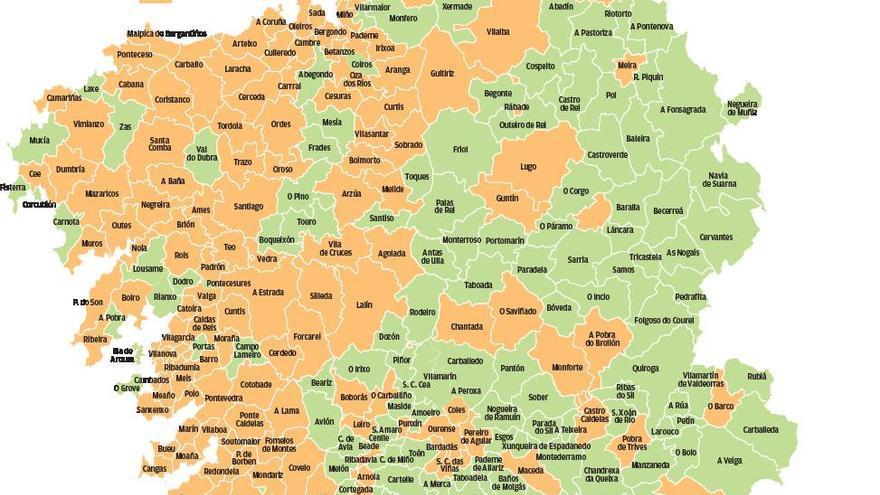 La Galicia sin COVID sube un 57%: son ya 165 los municipios sin casos durante siete días