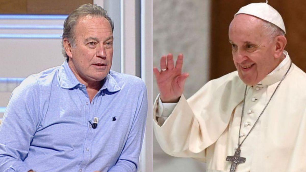Bertín Osborne y el Papa Francisco.