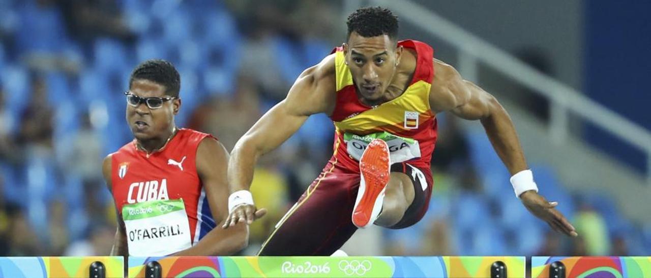 Orlando Ortega, plata en 110 metros vallas