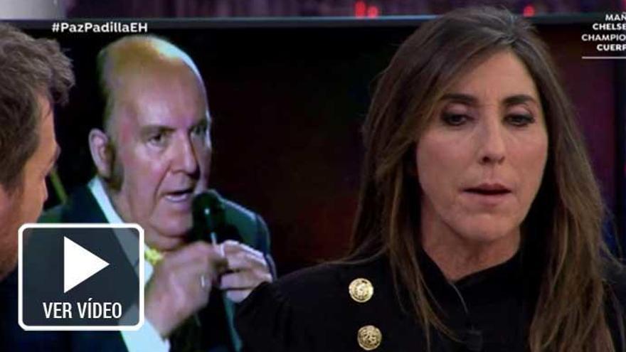 Paz Padilla no puede evitar las lágrimas al recordar a Chiquito