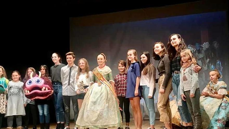 Lope de Rueda, primer premio en el concurso de Teatro Fallero Infantil de Torrent