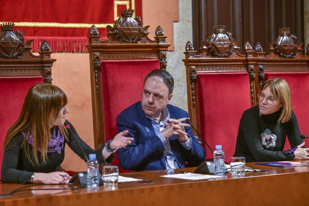 Alba Camps, Valentí Junyent i Cristina Cruz a la taula presidencial