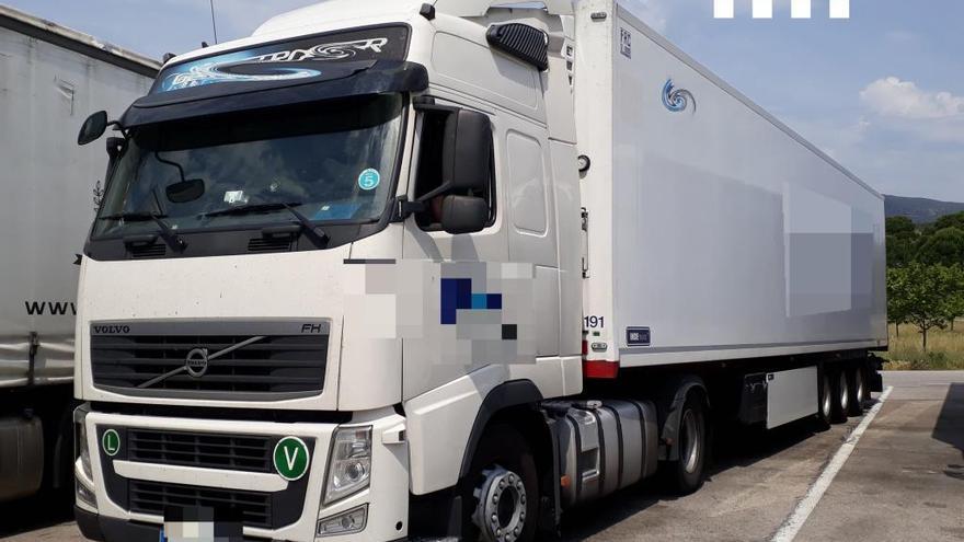 Denuncien dos camioners que triplicaven la taxa d'alcoholèmia a La Jonquera