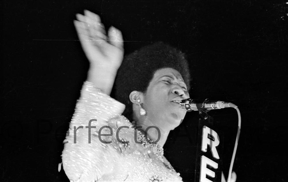 ARETHA FRANKLIN, ARTISTA INVITADA AL XII FESTIVAL DE LA CANCIÓN DE BENIDORM. 16 DE JULIO 1970.