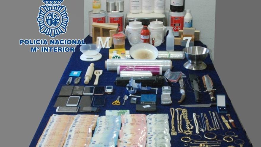 La Policía Nacional desmantela en Córdoba un laboratorio clandestino dedicado a la manipulación de cocaína