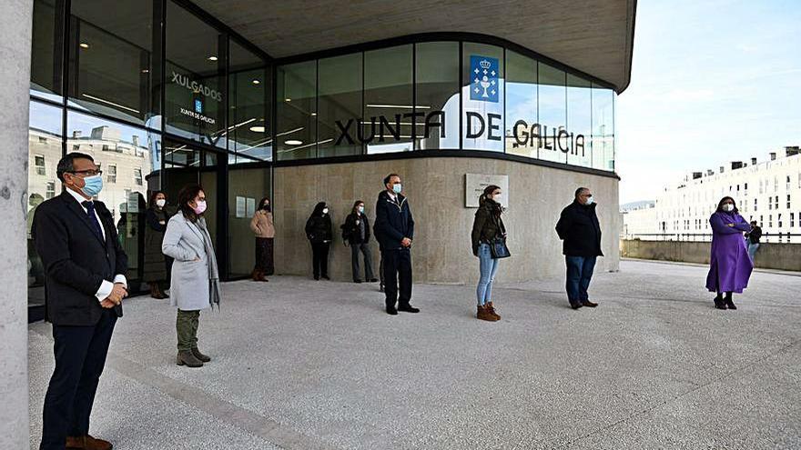 Concentración de apoyo a la jueza agredida en Segovia
