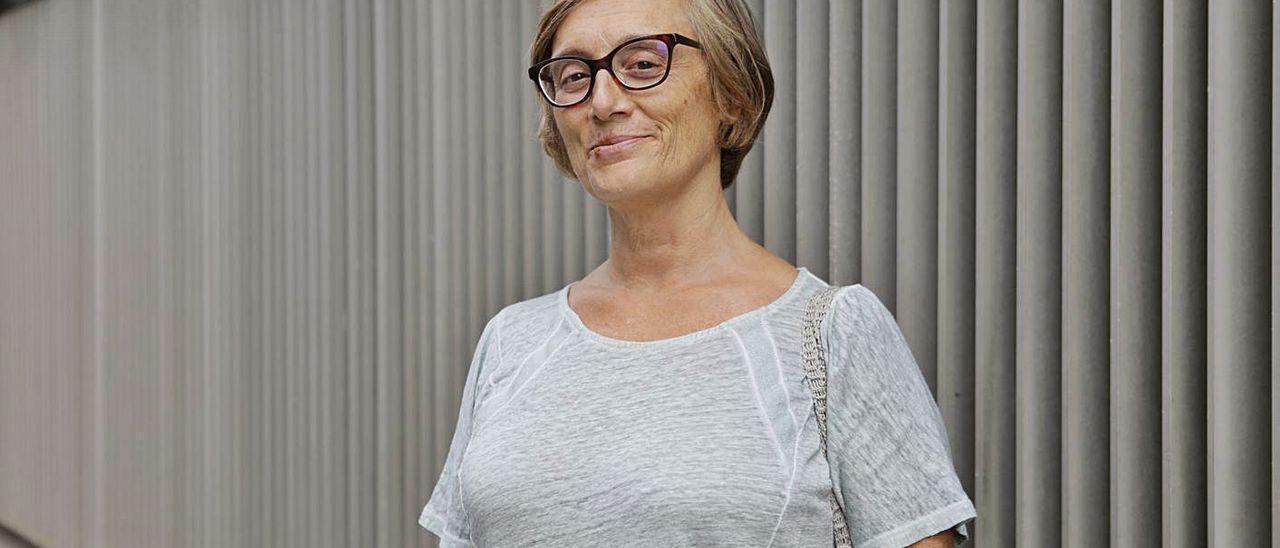 Raquel Fernández, en Oviedo.