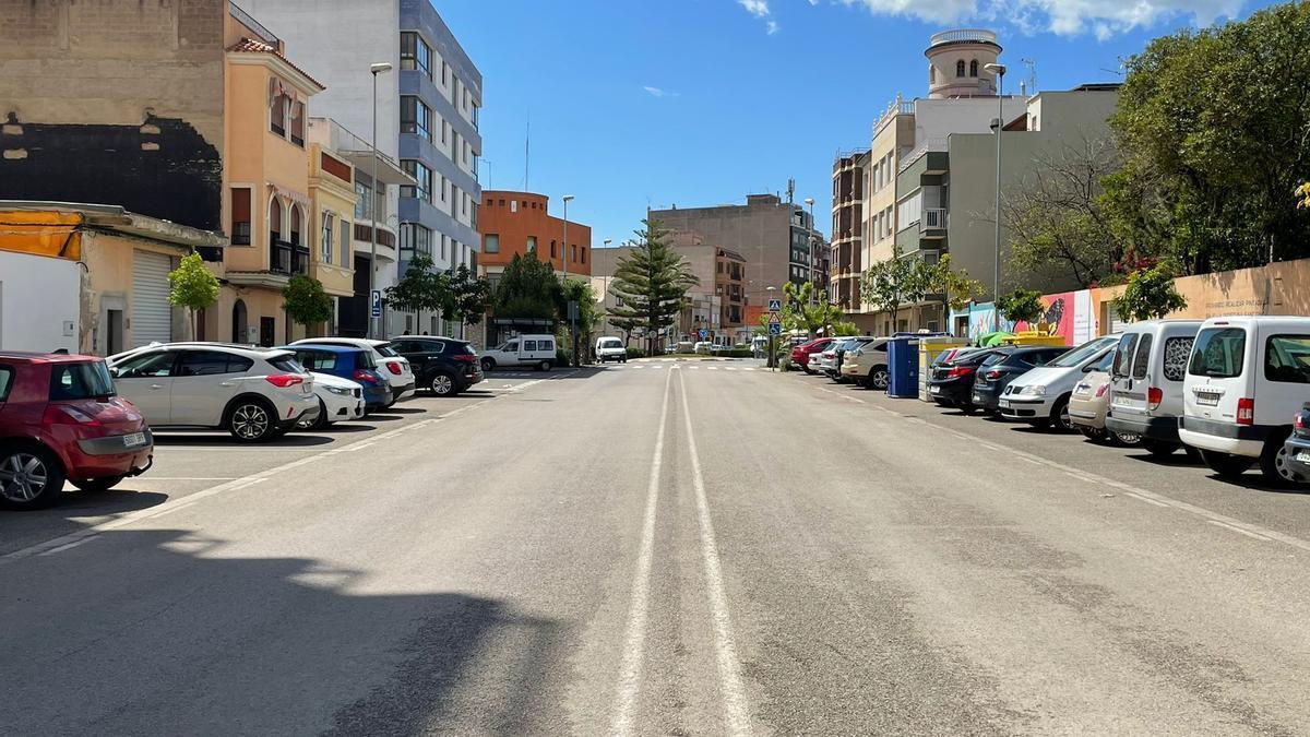 El plan en la avenida Primero de Mayo de Betxí aumentará el espacio peatonal.