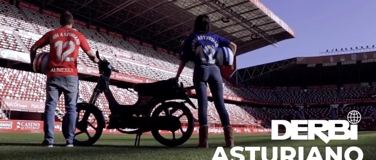 Una captura del vídeo del Sporting sobre el derbi