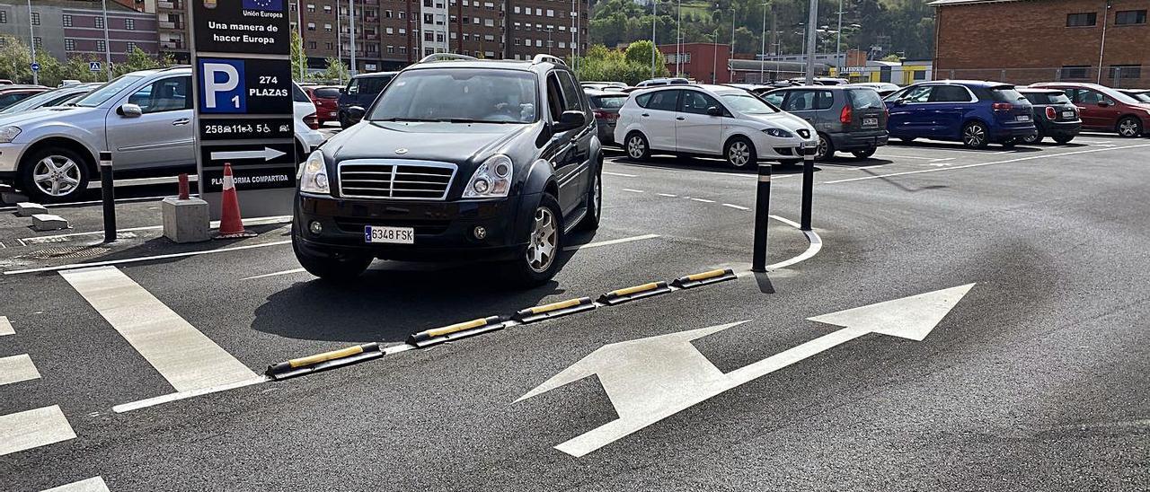 Una de las nuevas zonas de aparcamiento de La Mayacina.