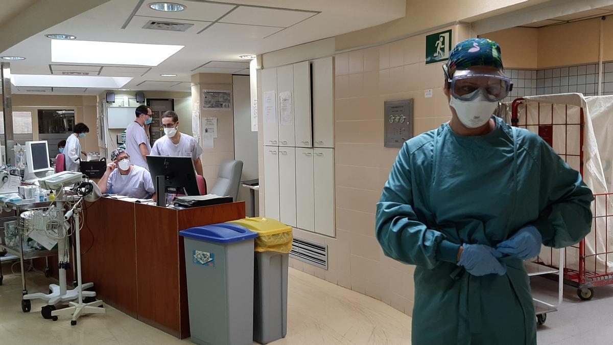 La UCI del Hospital General de Elche, en una imagen reciente