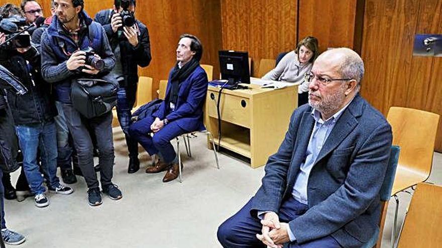 Francisco Igea, durante la vista en el juzgado de instrucción número 5 de Valladolid