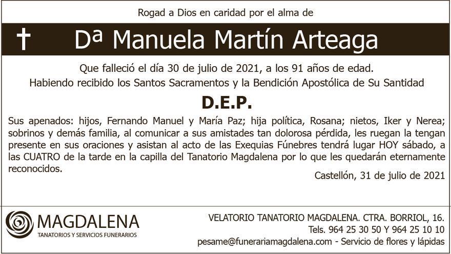 Dª Manuela Martín Arteaga