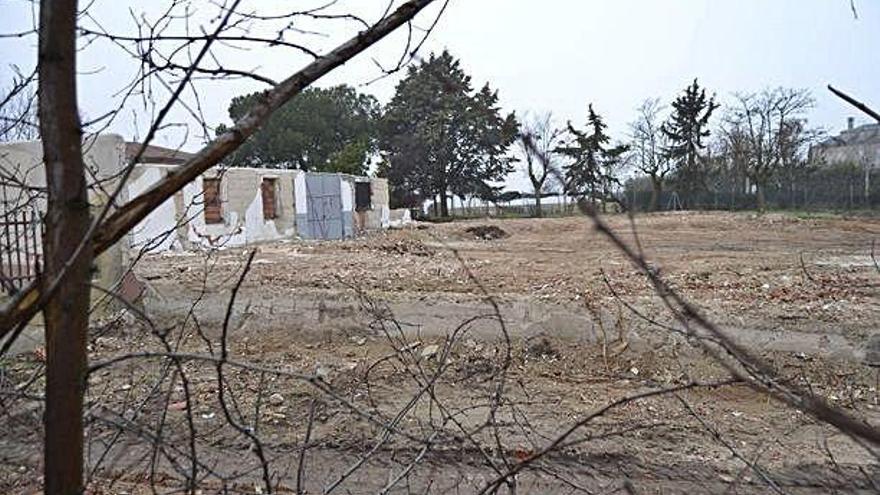 Concluye el derribo del cuartel de la Guardia Civil en Moraleja del Vino