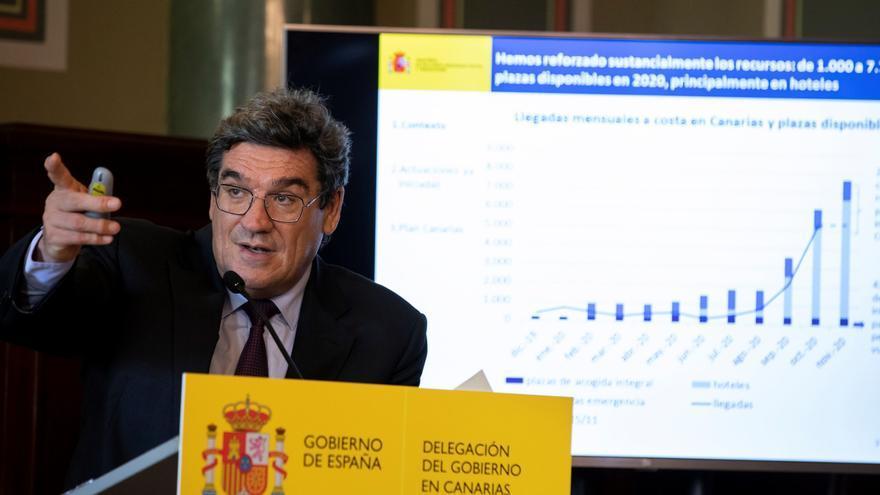 El ministro José Luis Escrivá presentan en Gran Canaria el Plan Canarias de Inmigración